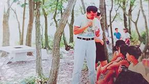 キャンプ好きな父親の影響で小さな頃から楽しんでいた