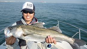 子供の頃から大好きだった釣り。これは東京湾の大型スズキ